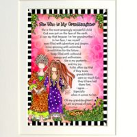 "She Who is My Granddaughter – 8 x 10 Matted ""Gifty"" Art Print"