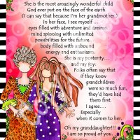 """She Who is My Granddaughter – 8 x 10 Matted """"Gifty"""" Art Print"""