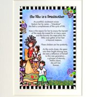 "She Who is a Grandmother – 8 x 10 Matted ""Gifty"" Art Print"