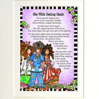 """She with Healing Hands – 8 x 10 Matted """"Gifty"""" Art Print"""