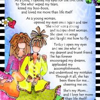"""She Who is My Mom – 8 x 10 Matted """"Gifty"""" Art Print"""