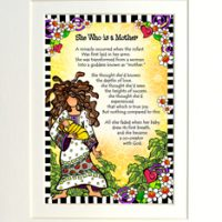 """She Who is a Mother – 8 x 10 Matted """"Gifty"""" Art Print"""