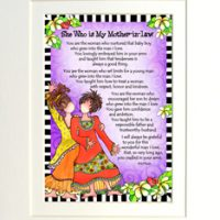 """She Who is My Mother In Law – 8 x 10 Matted """"Gifty"""" Art Print"""
