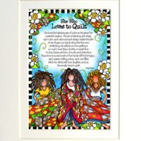 """They Who Love to Quilt – 8 x 10 Matted """"Gifty"""" Art Print"""