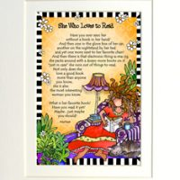 "She Who Loves to Read – 8 x 10 Matted ""Gifty"" Art Print"