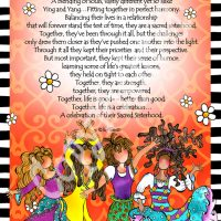 "They Who Celebrate the Sacred Sisterhood (4 girls) – 8 x 10 Matted ""Gifty"" Art Print"