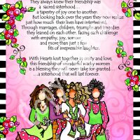 "Sacred Sisterhood of Wonderful Wacky Women (4 girls) – 8 x 10 Matted ""Gifty"" Art Print"