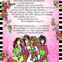 "Sacred Sisterhood of Wonderful Wacky Women (4 girls) – 8 x 10 Matted ""Gifty"" Art Print"