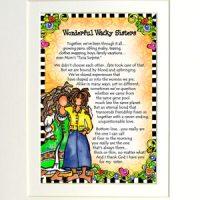 "Wonderful Wacky Sisters – 8 x 10 Matted ""Gifty"" Art Print"