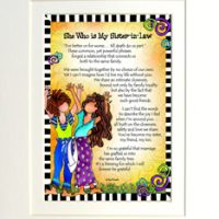 "She Who is My Sister-In-Law – 8 x 10 Matted ""Gifty"" Art Print"
