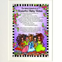 "The Sacred Sisterhood of Wonderful Wacky Women (5 girls) – 8 x 10 Matted ""Gifty"" Art Print"