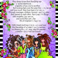 "The Sacred Sisterhood of Wonderful Wacky Women (5 girls) – 8 x 10 Matted ""Gifty"" Art Print"