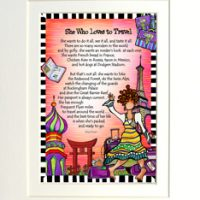 """She Who Loves to Travel – 8 x 10 Matted """"Gifty"""" Art Print"""