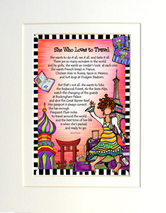 Loves to Travel art print matted