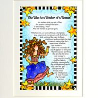 "She Who is a Wonder of a Woman – 8 x 10 Matted ""Gifty"" Art Print"
