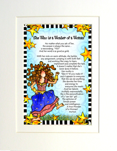 Wonder of a Woman Art print matted