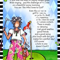 """She Who Loves to Golf – 8 x 10 Matted """"Gifty"""" Art Print"""