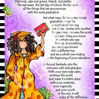 "She Who is a Graduate – 8 x 10 Matted ""Gifty"" Art Print"