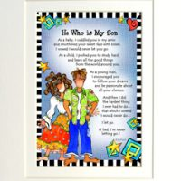 "He Who is My Son – 8 x 10 Matted ""Gifty"" Art Print"