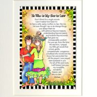 "He Who is My Son-In-Law – 8 x 10 Matted ""Gifty"" Art Print"