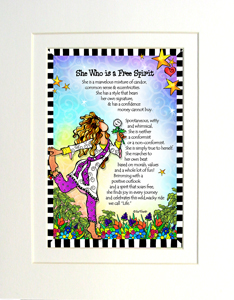 Free Spirit art print matted