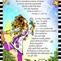 "She Who is a Free Spirit – 8 x 10 Matted ""Gifty"" Art Print"