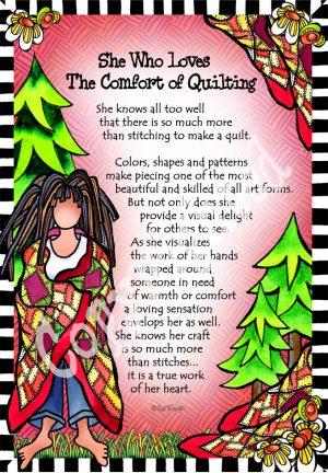 Comfort in Quilting art print