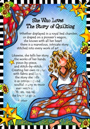 Story of Quilting art print