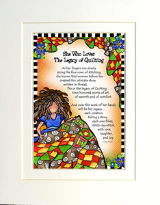 Legacy of Quilting art print matted