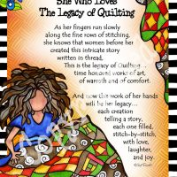 """She Who Loves the Legacy of Quilting – 8 x 10 Matted """"Gifty"""" Art Print"""