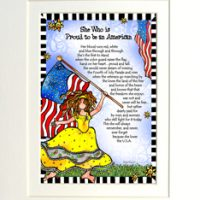 "She Who is Proud to be an American – 8 x 10 Matted  ""Gifty"" Art Print"