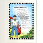 """He Who Loves to Golf – 8 x 10 Matted """"Gifty"""" Art Print"""