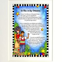 "He Who is My Grandson – 8 x 10 Matted ""Gifty"" Art Print"