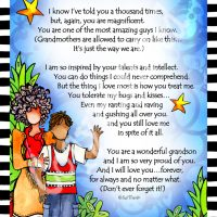 """He Who is My Grandson – 8 x 10 Matted """"Gifty"""" Art Print"""