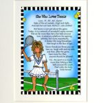 """She Who Loves Tennis – 8 x 10 Matted """"Gifty"""" Art Print"""