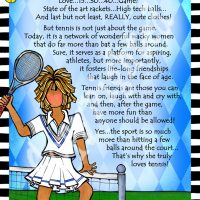 "She Who Loves Tennis – 8 x 10 Matted ""Gifty"" Art Print"