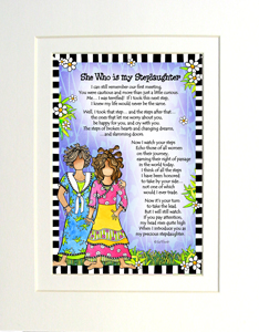 My Stepdaughter art print matted