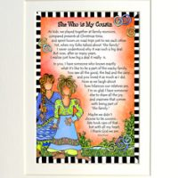"She Who is My Cousin – 8 x 10 Matted ""Gifty"" Art Print"