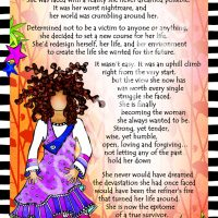 "She Who is a True Survivor – 8 x 10 Matted ""Gifty"" Art Print"