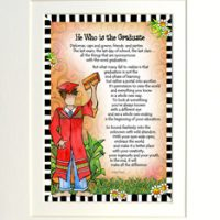 "He Who is the Graduate – 8 x 10 Matted ""Gifty"" Art Print"