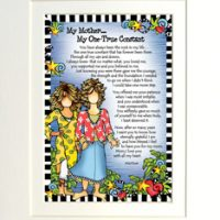 "My Mother… One True Constant – 8 x 10 Matted ""Gifty"" Art Print"