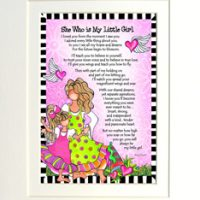 """She Who is My Little Girl – 8 x 10 Matted """"Gifty"""" Art Print"""