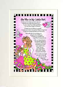My Little Girl art print matted