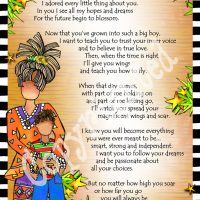 """He Who is My Little Boy – 8 x 10 Matted """"Gifty"""" Art Print"""
