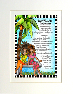 They who are Girlfriends art print matted