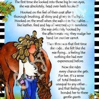 """She Who Loves Horses – 8 x 10 Matted """"Gifty"""" Art Print"""