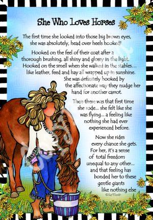 Loves Horses art print