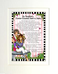 Heart to Heart daughter art print matted