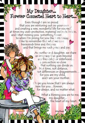 Heart to Heart daughter art print