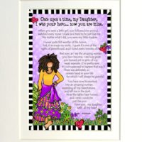 """Once upon a time, my Daughter, I was your Hero… Now you are mine – 8 x 10 Matted """"Gifty"""" Art Print"""